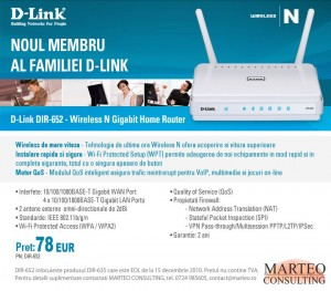 D-Link DIR-652 - Wireless N Gigabit Home Router